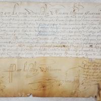 Lettre de nomination de Jehan de Castaing (Bergerac, 21 mai 1585) - AD Dordogne, E Dép. 5115 (2) - photo 1.jpg