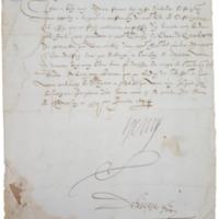 Lettre portant mandement (12 janvier 1584), AD64 16 J 331 photo 1.png
