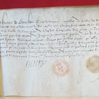 Quittance du prince de Navarre compagnie des 100 lances (20-01-1565) BnF Pièces originales 457, n°98.jpg